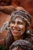 Donna australiana aborigena Fotografia Stock Libera da Diritti