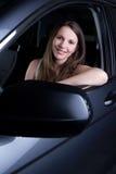Donna in automobile Immagine Stock Libera da Diritti