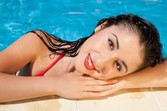 Donna bagnata dei capelli Immagine Stock