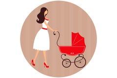 Donna-bambino Immagini Stock Libere da Diritti