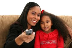 Donna, bambino, a distanza fotografie stock libere da diritti