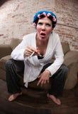 Donna Befuddled fotografie stock libere da diritti