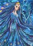 Donna in bello vestito illustrazione vettoriale