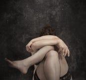 Donna in biancheria Fotografia Stock Libera da Diritti