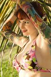 Donna in bikini. fotografia stock libera da diritti