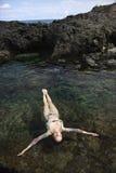 Donna in bikini. fotografia stock