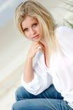 Donna bionda immagine stock