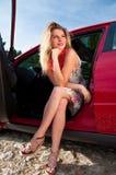Donna bionda Fotografie Stock