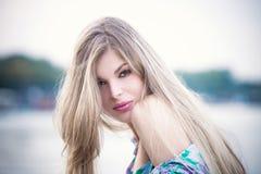 Donna bionda Fotografia Stock