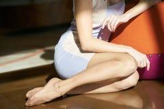 Donna bionda alla moda Fotografie Stock Libere da Diritti