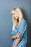 Donna bionda attraente Immagini Stock