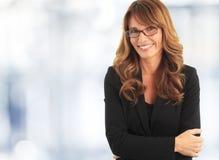 Donna attraente di affari Fotografie Stock Libere da Diritti