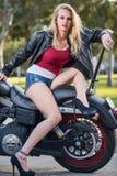 Donna bionda caucasica sexy Fotografia Stock Libera da Diritti