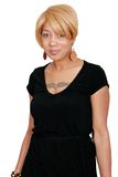 Donna bionda dell'afroamericano Fotografia Stock