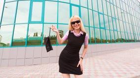 Donna bionda di affari Fotografia Stock