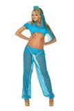 Donna bionda di Beautiul in costume di bellezza di oriente. fotografia stock