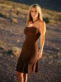 Donna bionda di modo Fotografia Stock