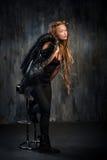 Donna bionda sensuale con i dreadlocks lunghi Immagine Stock Libera da Diritti