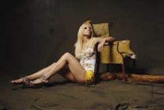 Donna bionda sexy Fotografie Stock Libere da Diritti