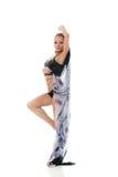 Donna bionda sexy di dancing Immagine Stock Libera da Diritti