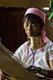 Donna birmana della giraffa Immagine Stock