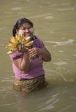 Donna birmana - Myanmar (Birmania) immagini stock libere da diritti