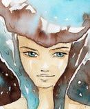 Donna blu royalty illustrazione gratis