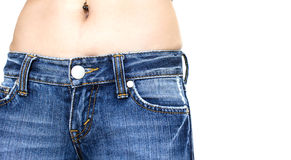Donna in blue jeans Immagine Stock