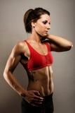 Donna in buona salute di forma fisica immagini stock libere da diritti