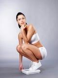 Donna in buona salute dopo la dieta Immagini Stock