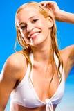 Donna calda sessuale in bikini Fotografie Stock