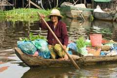 Donna cambogiana Fotografie Stock