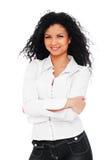 Donna in camicia bianca Fotografia Stock