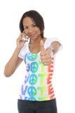 Donna in camicia di voto Fotografie Stock