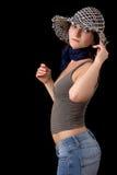 Donna in cappello fotografia stock libera da diritti