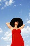 Donna in cappello Immagine Stock