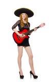 Donna in cappello del sombrero Fotografie Stock Libere da Diritti