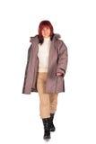 Donna in cappotto 2 di inverno immagine stock libera da diritti