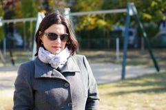 Donna in cappotto Fotografie Stock