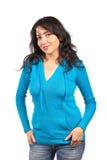 Donna casuale felice Fotografia Stock