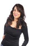 Donna casuale felice Immagine Stock
