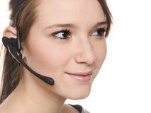 Donna casuale - receptionist Immagini Stock Libere da Diritti