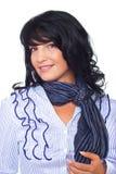 Donna casuale sorridente di affari Fotografia Stock