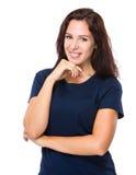 Donna caucasica Fotografia Stock