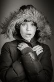 Donna caucasica attraente nei suoi 30 isolata sulla a Immagine Stock Libera da Diritti