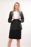 Donna caucasica bionda attraente di affari Fotografie Stock