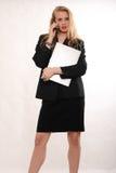 Donna caucasica bionda attraente di affari Fotografia Stock Libera da Diritti