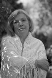 donna centrale del ritratto di età Fotografia Stock Libera da Diritti
