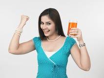 Donna che è salute cosciente Fotografie Stock Libere da Diritti
