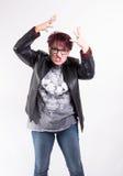 Donna che agisce sconcertante Fotografia Stock Libera da Diritti